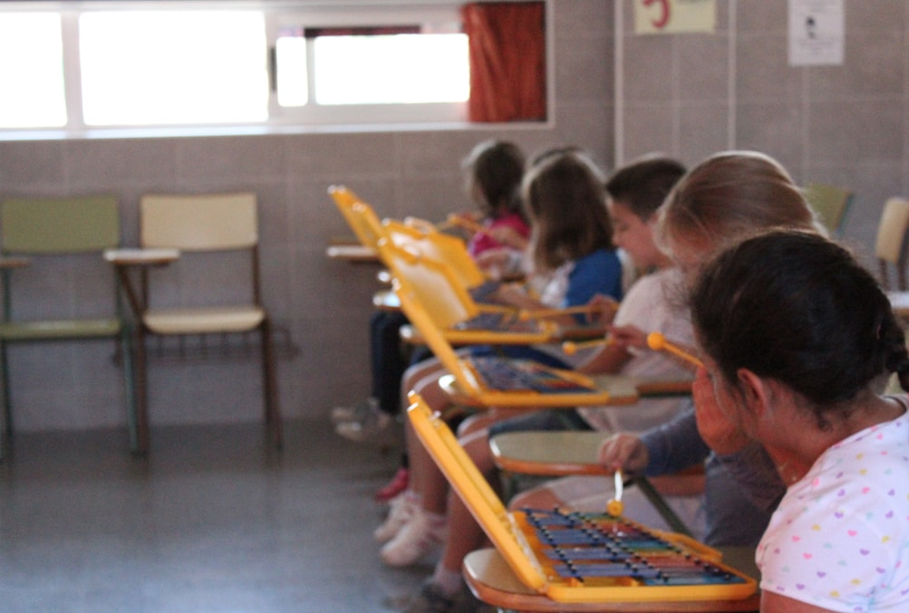 Alumnos/as en la Escuela de Música
