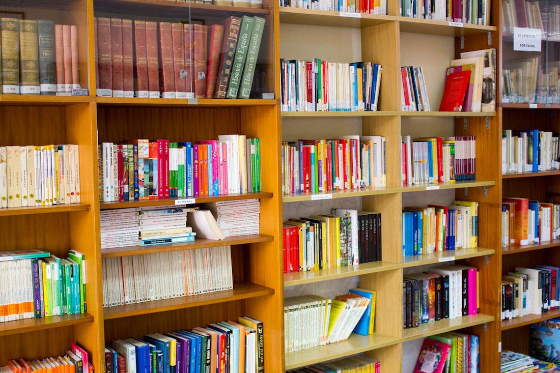 Libros a disposición de los alumnos para lectura o préstamo