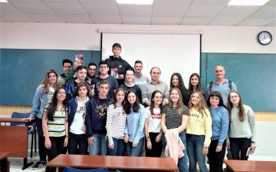 Trobada dels alumnes de 4t d'ESO amb l'autor Francesc Gisbert