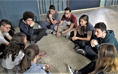 La sala azul acoge una feria de sentimientos; una experiencia educativa con alumnos de 4º de ESO