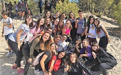 Alumnos de 3º de ESO en su día de tutoría-convivencia