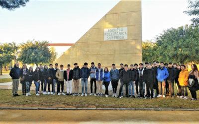 Visita de los estudiantes del Bto. técnico a las instalaciones de la Universidad Politécnica