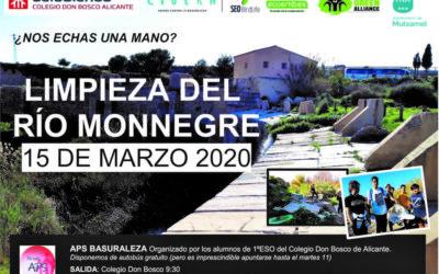 BASURALEZA y la limpieza del Río Monnegre el 15 de marzo de 2020