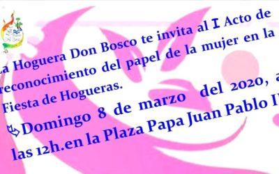 La Hoguera Don Bosco invita a un acto en la Plaza Juan Pablo II