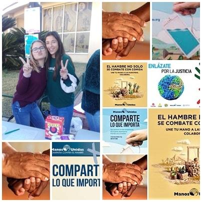Alumnas de ESO ante la Campaña de Manos Unidas