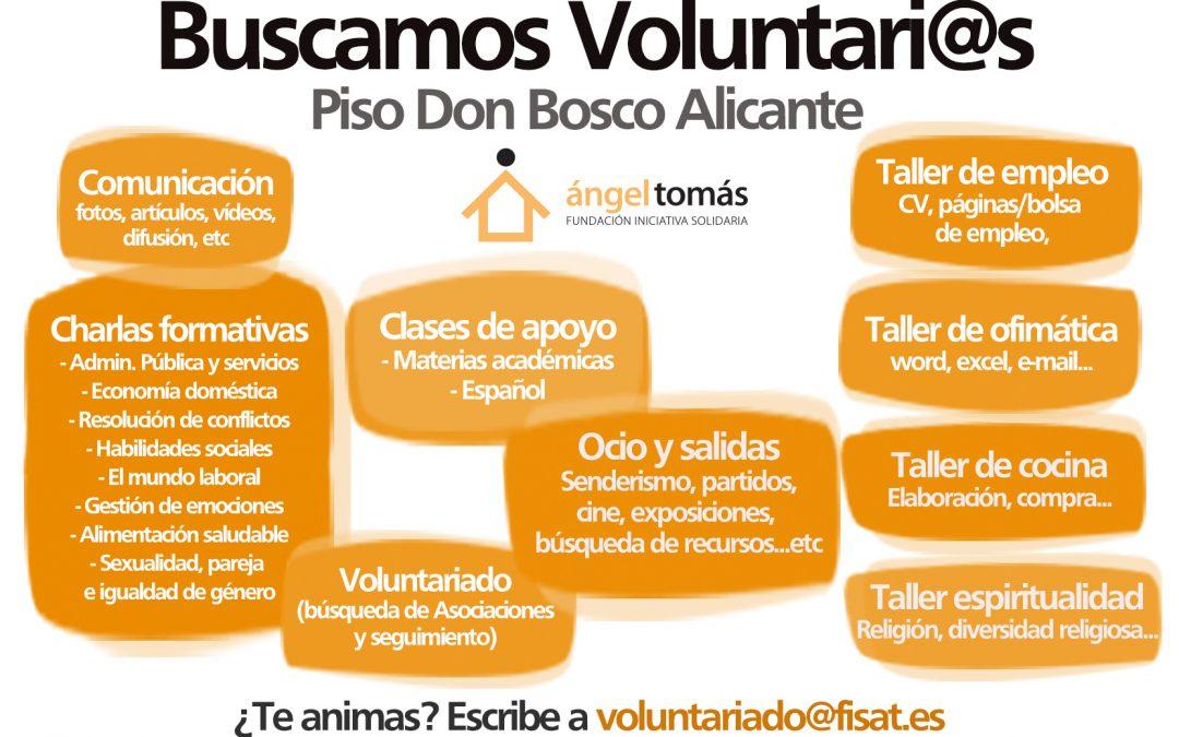 El piso de emancipación Don Bosco busca voluntarios/as en Alicante
