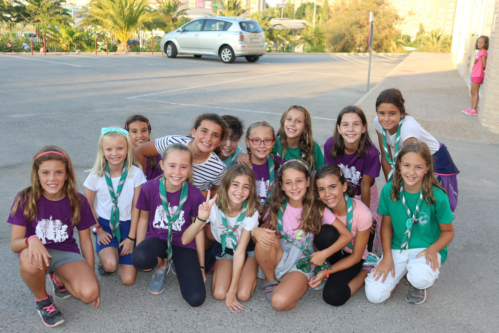 El grupo scout Impeesa sale de Campamento el pasado 31 de julio a las 8.00 de la tarde