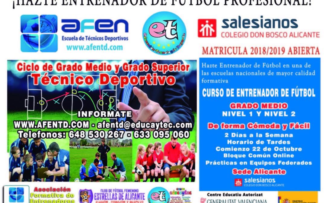Nuevo curso de Técnico Deportivo en nuestro Centro