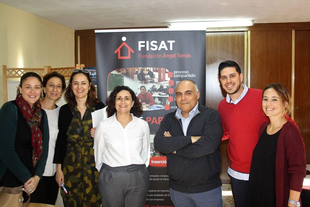 Trabajadores en los locales de la FISAT