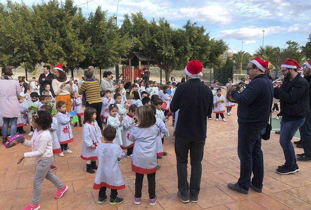 La Unión Musical Ciudad de Asís (UMCA) visita el colegio