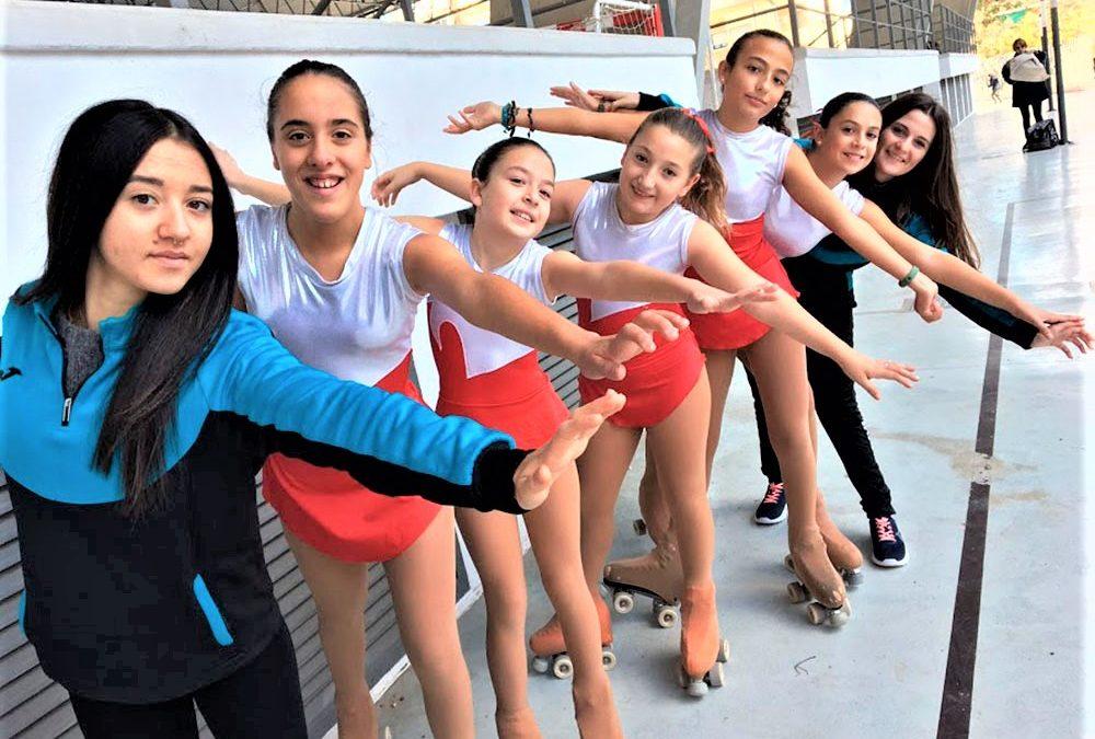 El club de patinaje, presente en el club atlético Montemar