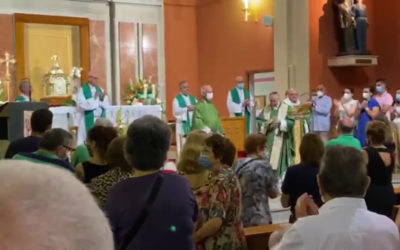 José Lafuente, Javier Churio y Francisco Abad celebran solemnemente sus 50 años como sacerdotes