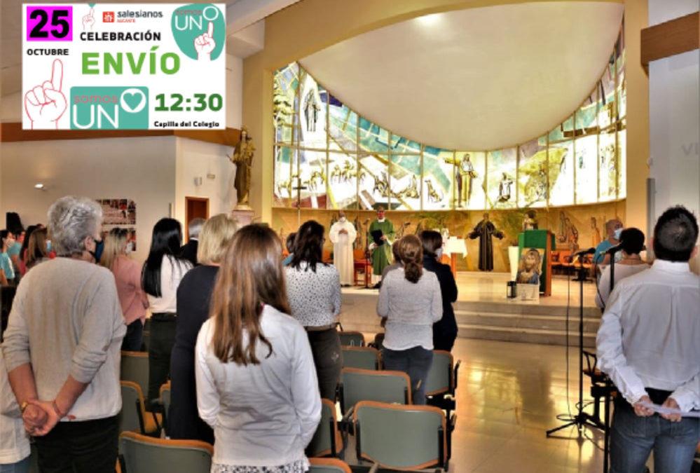 Celebración de «El Envío» en la iglesia del colegio don Bosco de Alicante